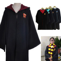 Wholesale blue cloak costume - New 2017 Harry Potter Robe Gryffindor Cosplay Costume Kids Adult Harry Potter Robe Cloak Halloween Costumes For Kids Adult b919