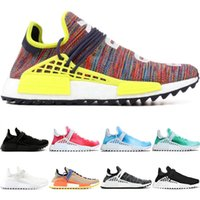 Wholesale china men basketball sneakers for sale - Group buy Human Race trail Running Shoes Men Women Pharrell Williams HU Runner Peace Passion Younth China Limited Mens Sport Sneaker Online