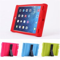 Wholesale unique red rose resale online - Unique Shockproof Soft Silicone Stand Case For Apple iPad air iPad mini Protective Drop Proof Cover