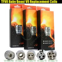 Wholesale head top baby - Top Quality TFV8 BABY Replacement Coils Head for Baby Beast Tank V8 Baby T8 T6 X4 M2 0.15 0.25ohm Q2 0.4 0.6ohm Rebuildable Atomizer Coils