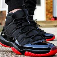 camping zapatos al aire libre al por mayor-11 11s Gamma Black BRED Zapato de baloncesto para hombre Gamma Azul Negro Rojo para hombre Zapatillas de deporte deportivas Zapatillas de deporte de diseño para exteriores Tamaño EE. UU. 7-13