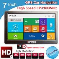 Wholesale gps europe - New 7 inch HD GPS Car Navigation 800M FM 8GB DDR3 2017 Maps For Russia Belarus  Europe USA+Canada TRUCK Navi Camper Caravan