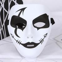 хип-хоп маски оптовых-Хэллоуин маска для лица Белый хип-хоп танцы Маска обычная маскарад маски белый черный