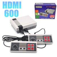 ingrosso sistemi di videogiochi per-Console per videogiochi Ultra HDMI portatile Precaricato 600 giochi retrò Dual Gamepad Controls Console di gioco retro per sistema PAL e NTSC