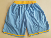 Wholesale sky teams resale online - 2018 New Shorts Team Shorts Baseketball Shorts Running Sports Clothes Sky Blue Color Size S XL Mix Match Order High Quality