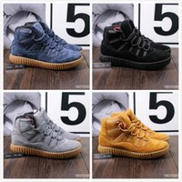 Wholesale Urban Boots - 2018 999 Urban Outdoor SF High Top Winter Snow Boots For Men Wheat Black Wolf Grey Deep Blue Velvet Warm Ankle Boots Sneakers