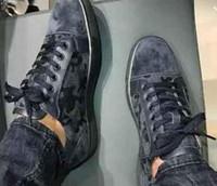 cordones de los zapatos camo al por mayor-Alta QAULITY zapatillas de deporte inferiores rojas Camo Rantus Shoes Junior con cordones zapatos planos de los hombres vestido de fiesta regalo de boda