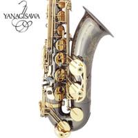 yanagisawa saxophon großhandel-Yanagisawa New Tenor Saxophon Hohe Qualität Sax B flache tenor saxophon spielen professionell absatz Musik Schwarz Saxophon kostenloser versand