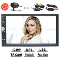 Wholesale wireless memory mp3 online - Car Audio Radio Receiver Double Din Car Stereo quot Bluetooth MP5 Player GPS Wireless Streaming Microphone Handsfree USB SD Memory Card AUX In