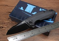 Wholesale excellent quality folding knife for sale - Group buy High quality ZERO TOLERANCE rexford ZT0456 black version combat folding knife excellent pocket knife