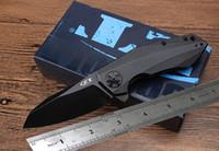 hervorragende qualität falten messer großhandel-Hochwertiges ZERO TOLERANCE rexford ZT0456 (schwarze Version) Kampfklappmesser ausgezeichnetes Taschenmesser