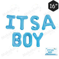 Wholesale baby celebration party - Aluminum Film Balloon Letter of It Is boys girls in the children Baby Birthday Party Wedding Celebration Ball Decor Supplies 6 5mk YY