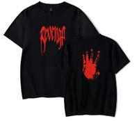 kıyafetler giymek toptan satış-XXX REVENGE Erkek Eller Palm Baskı T-shirt XXXTENTACION Erkekler Hip Hop Üstleri Giymek Kadınlar Streetwear Tees Severler Yaz Tshirt Giyim