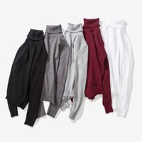 Wholesale Trendy Winter Sweaters - 2017 Japanese autumn and winter new fashion men's high collar pullover sweater Korean trendy wild sweater primer shirt