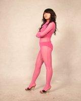 body rosa completo al por mayor-Rosa Lycra Spandex Seda de cuerpo completo traje Zentai Cosplay mono COS traje adulto tamaño