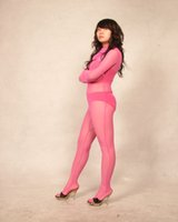costume rose complet du corps achat en gros de-Rose Lycra Spandex Soie Full Body Zentai Costume Cosplay Body COS Costume Taille Adulte