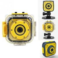 su geçirmez dijital video camcorder toptan satış-Çocuk Çocuk Dijital Kamera Su Geçirmez Eylem Kamera Video Kamera Mini Çocuk açık Spor Kamera Çocuklar Için Doğum Günü Hediyesi