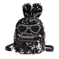 sacos de escola infantis venda por atacado-Mochila de luxo crianças Sacos Designer exclusivo Meninas Lantejoulas Ombro Estudante Crianças Mochilas Escolares highj qualidade Infantil