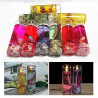 Wholesale jelly glasses resale online - Creative Colorful Sea Shells Jelly Environment Crystal Wax Transparent Glass Candle DIY Decorate Birthday Celebration Wedding Banquet