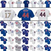 Wholesale black baseballs - Chicago 22 Jason Heyward Jersey 9 Javier 44 Anthony 17 Rizzo Baez 49 Jake Arrieta 23 Ryne Sandberg Baseball Jerseys