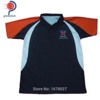 ingrosso illuminazione australiana-Camicie da golf blu chiaro blu scuro per il team in Australia