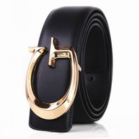 Wholesale alloy 32 - 100% high grade cow genuine Design leather men Domineering belts luxury Brand good belt for men cinturones hombre free shipping