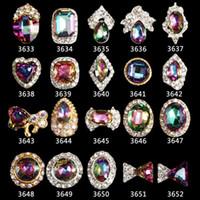 ingrosso bowtie in lega-10 pz / lotto 3d lega nail art strass symphony ab bowtie / cuore / diamanti / forma rotonda diy fascino gioielli chiodo decorazioni strumenti