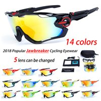 Wholesale cycling sunglasses - 2018 Polarized Brand Cycling Sunglasses Racing Sport Cycling Glasses Mountain Bike Goggles Interchangeable Lens g Cycling Eyewear