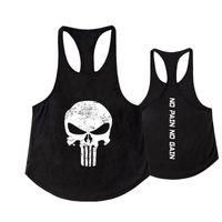 ingrosso maglietta di estate degli uomini-2018 Uomini Gym Skull Tank Top Uomo Vegeta Bodybuilding Abbigliamento Estate Fitness Uomo Outdoor Vest Canotta Stringer Canotta senza maniche