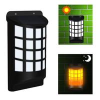 peyzaj duvar çit aydınlatma toptan satış-1 paket Epacket Su Geçirmez Güneş Enerjili LED Duvar Işık Açık Peyzaj Bahçe Yard Çim Çit Güverte Çatı Aydınlatma Dekorasyon için