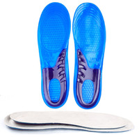 Wholesale soft shock shoes online - GEL shock absorbing insoles highly elastic silicone sports shoe pad high quality soft Thicken pads Men and Women insole