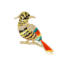 Lovely Bird Pin Brooch Designer Brooches Badge Metal Enamel Pin Broche Women Luxury Jewelry Wedding Party Decoration