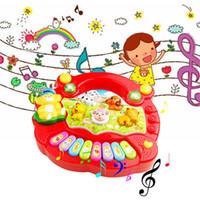 детские игрушки для мальчиков оптовых-Новая Мода Детские Дети Музыкальное Образование Фортепиано Животных Фермы Развития Музыка Игрушки Горячие Продажи Оптовая Розничная Коробка Бесплатная Доставка