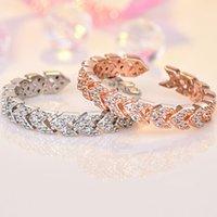 offenes dreieck großhandel-Designer Schmuck Zirkon Ringe Dreieck Pfeile öffnen Schwanz Ring einfach für Frauen heiße Mode versandkostenfrei
