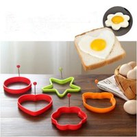 Wholesale Stainless Steel Egg Ring - Creative Stainless Steel Frying Machine Thickening Non-stick Omelette Mold DIY Omelette Kitchen Gadgets Fried Egg Model Mold CCA9092 200pcs