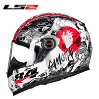 ingrosso caschi originali del motociclo-New Color LS2 FF358 moto casco moda uomo donna integrale moto da corsa casco stile esercito originale LS2 caschi moto