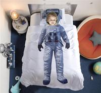 ensembles de literie pour fille adulte achat en gros de-Ensembles de literie 3D 2 pcs 3 pcs Astronaute ballet impression photo pour enfants fille garçon bon rêve oreiller drap drap plat