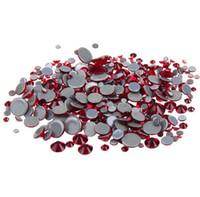 ingrosso pietre scure-Dark Siam Glitter AAA Grado Qualità Cristalli di vetro Pietre Strass Hotfix Strass Per abbigliamento Indumento Accessorie Con Germania Colla