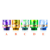 Wholesale air bears - Airflow 810 Drip Tip Epoxy Resin Brass Drip Tips Vape Air Flow Control Wide Bore Mouthpiece for TFV8 TFV12 Prince Big Baby DHL