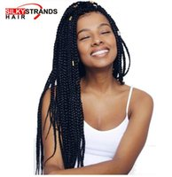 Wholesale ombre kanekalon braiding hair resale online - Silky Strands Micro Box Braids Crochet Hair Extensions Ombre Kanekalon Fiber Synthetic Braiding Hair Bulk Crochet Braids