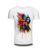 9ce6a1597d Camisetas de acampar Top Blanco Colorful Soldier Pirnt T-shirt Cool Top  Tshirt Design Novedad Impreso Tee Hombres Mujeres ropa de hombre T shirt f
