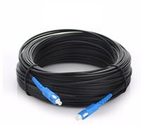 Wholesale fiber optic patch cords resale online - 100m Outdoor Fiber Optic FTTH Drop Cable Patch Cord SC to SC Simplex SM SC SC Meters Drop Cable Patch Cord