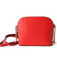 omuz çantası trendi toptan satış-Ücretsiz kargo 2018 Yeni çanta Çapraz Desen Sentetik Deri Kabuk Zincir Çanta Omuz Messenger Çanta Küçük Moda Trendi