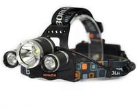 cree светодиодный фонарь высокой мощности оптовых-3t6 фары 6000 люмен 3 x Cree XM - L T6 головная лампа высокой мощности светодиодные фары Фара Факел лампы фонарик + зарядное устройство+автомобильное зарядное устройство