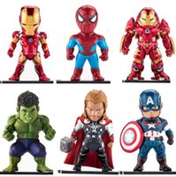 Wholesale iron man games - Avengers Action Figure Iron Man Spiderman Captain America Movie Game Model Figure Toy Gift Collection OOA4897