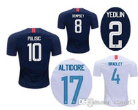 Wholesale united states uniforms - 2018 USA World Cup Soccer Jerseys PULISIC 18 19 DEMPSEY BRADLEY ALTIDORE WOOD America Soccer uniform kit United States Football Shirts