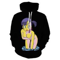 hoodies sexy hommes achat en gros de-FIZLA Sexy Z Cartoon Bulma 3D Imprimer Sweat Sweats à capuche pull animé Sweats Femmes Hommes Black Fashion Marque Hoodie