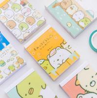 Wholesale promotional notepads resale online - Sumikko Gurashi Cartoon DIY Soft Cover Mini Notebook Diary Pocket Notepad Promotional Gift Stationery