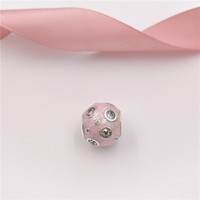 Wholesale dream bracelets - Spring Collection 925 Sterling Silver Beads Pearlescent Pink Dreams Charm Fits European Pandora Style Jewelry Bracelets & Necklace 797033EN1