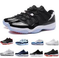 lojas esportivas venda por atacado-NIKE AIR JORDAN 11 Venda quente Clássicos A11 HOMENS MULHERES Baixo tênis de basquete Amante esporte bota boa qualidade tomada de fábrica XI baixa top AIR sneaker